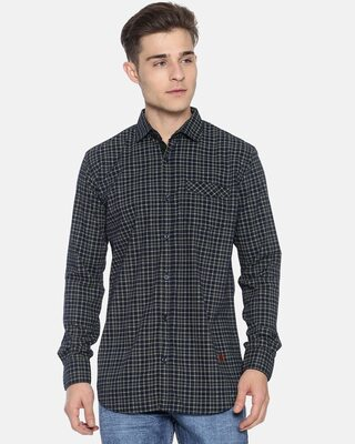 Shop Campus Sutra Men Checks Full Sleeve Stylish Casual Shirts-Front