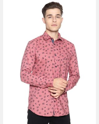 Shop Campus Sutra Men Full Sleeve Graphic Design Stylish Casual Shirts-Front