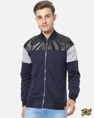 Shop Campus Sutra Men Full Sleeve Solid Stylish Casual Jacket-Front
