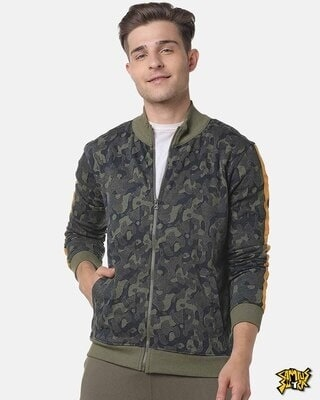 Shop Campus Sutra Men Graphic Stylish Casual Jacket-Front