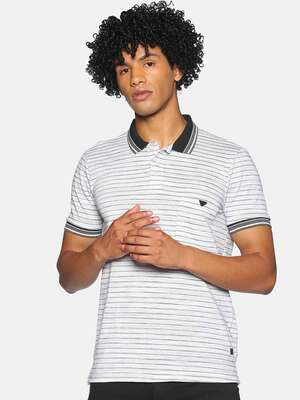 Shop Campus Sutra Men Half Sleeve Stylish Striped Casual T-Shirts-Front