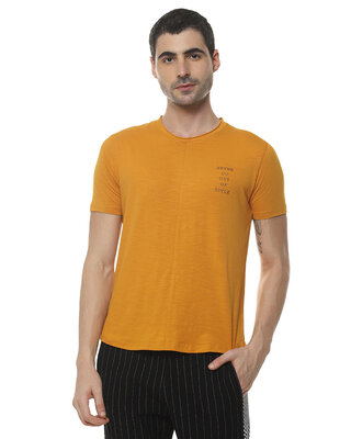 Shop Campus Sutra Men Printed Stylish Half Sleeve Casual T-Shirt-Front
