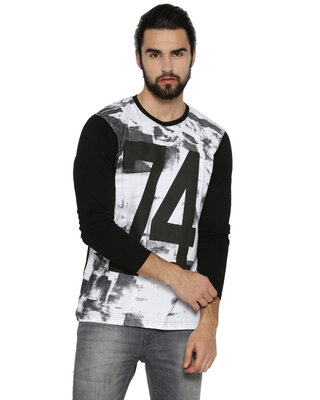 Shop Campus Sutra Men's Full Sleeve T-shirts-Front