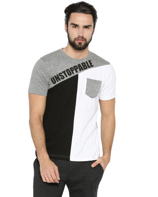 Shop Campus Sutra Men's Half Sleeve Unstoppable Printed T-shirt-Front