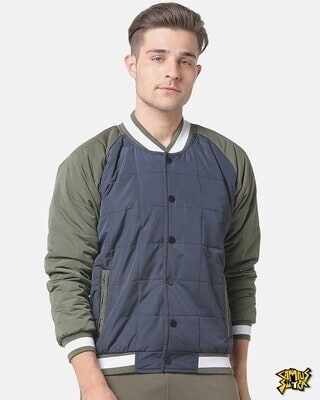 Shop Campus Sutra Men Solid Stylish Casual Jacket-Front