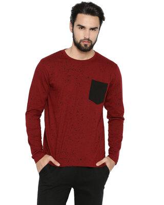 Shop Campus Sutra Men's Polka Printed Tshirt-Front