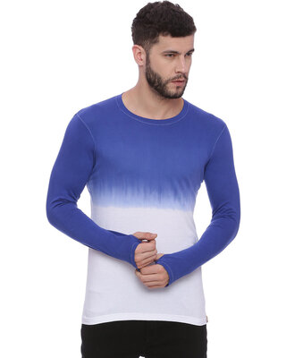 Shop Campus Sutra Men's Self Designed Spray Thumb Hole Tshirts-Front