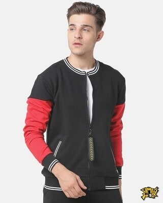 Shop Campus Sutra Full Sleeve Colorblocked Men Casual Sweatshirt-Front