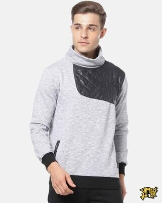 Shop Campus Sutra Men Full Sleeve Solid Stylish Sweatshirt-Front