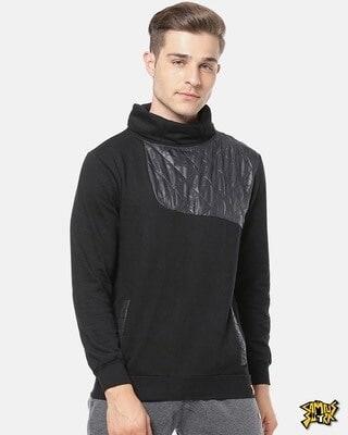 Shop Campus Sutra Men Full Sleeve Solid Stylish Sweatshirt-Front
