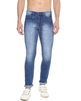 Shop Campus Sutra Men Solid Design Stylish Denim Jeans-Front