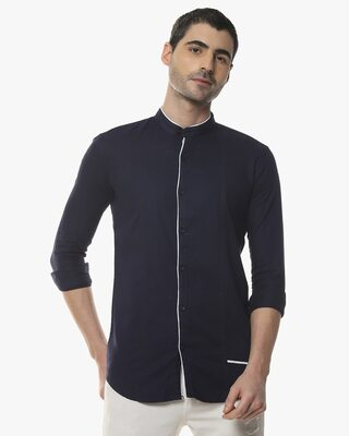 Shop Campus Sutra Men Solid Stylish Full Sleeve Casual Shirts-Front