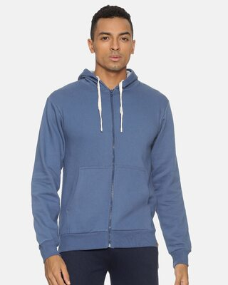 Shop Campus Sutra Men Solid Stylish Full Sleeve Hooded Sweatshirt-Front