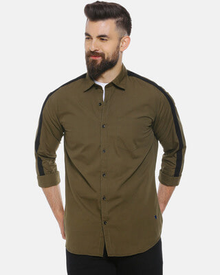 Shop Men Solid Stylish New Trends Casual Spread Shirt-Front