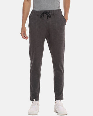 Shop Campus Sutra Men Striped Stylish Casual & Evening Trackpant-Front