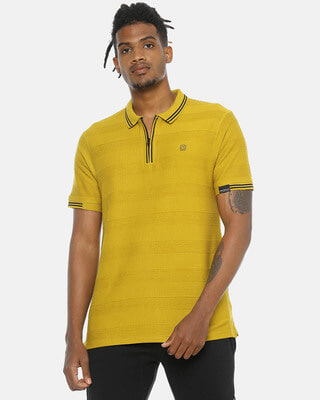 Shop Campus Sutra Men Stylish Casual Polo T-Shirts-Front