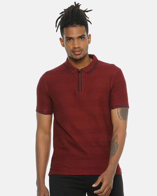 Shop Campus Sutra Men Stylish Casual T-Shirt-Front