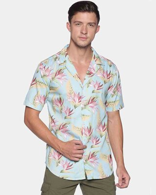 Shop Campus Sutra Men Stylish Graphic Casaul Shirts-Front
