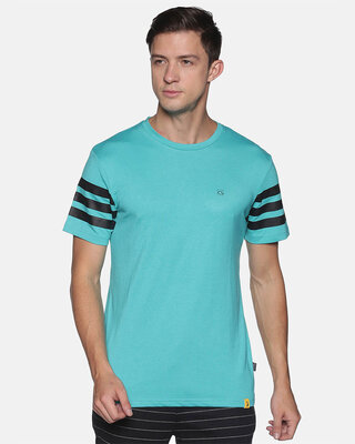 Shop Campus Sutra Men Stylish Sleeve Striped Casual T-Shirts-Front
