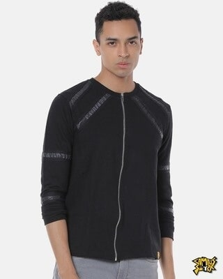 Shop Campus Sutra Men Stylish Solid Casual Jacket-Front