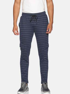 Shop Campus Sutra Men Stylish Striped Casual & Evening Trackpants-Front