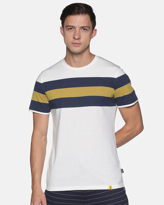 Shop Campus Sutra Men Stylish Striped Casual T-Shirts-Front