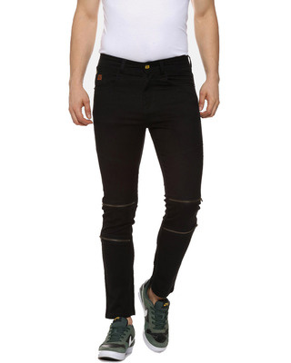 Shop Campus Sutra Slim Men Black Jeans-Front