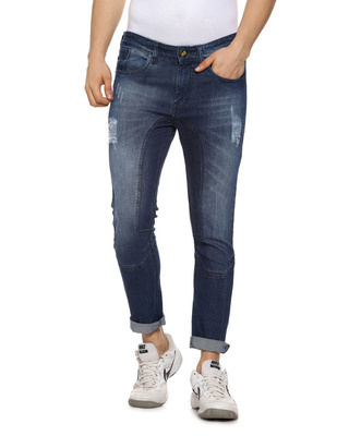 Shop Campus Sutra Slim Men  Blue Jeans-Front