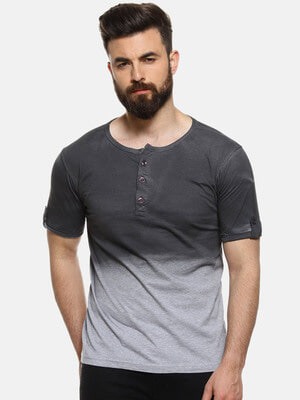 Shop Campus Sutra Men's Stylish Casual T-Shirt-Front