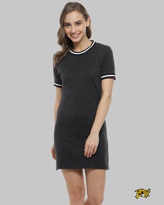 Shop Campus Sutra Women Fit & Flare Body Con Black Dresses-Front