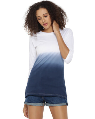 Shop Campus Sutra Women's Spray T-shirt-Front