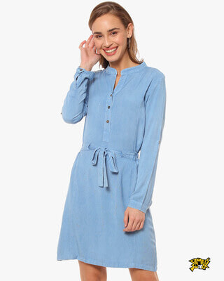 Shop Campus Sutra Women Solid Stylish Casual Dress-Front