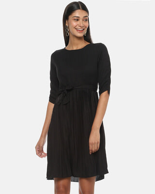 Shop Campus Sutra Women Solid Stylish Dress-Front