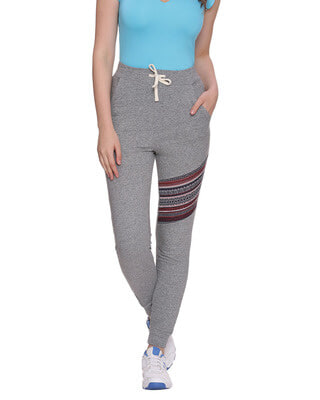 Shop Campus Sutra Women Solid Stylish Trackpant-Front