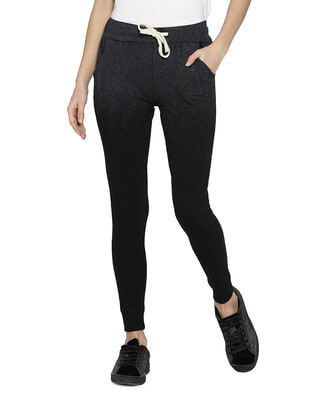Shop Campus Sutra Camouflage Black Joggers-Front
