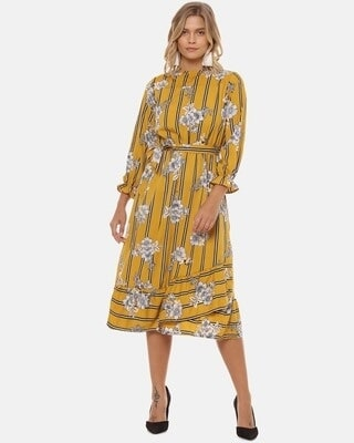 Shop Campus Sutra Women Stylish Floral Design Casual Dresses-Front