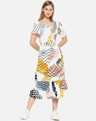 Shop Campus Sutra Women Stylish Graphic Design Casual Dresses-Front