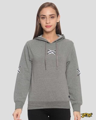 Shop Campus Sutra Women Stylish Hooded Sweatshirt-Front