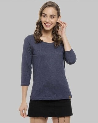 Shop Campus Sutra Women Stylish Round Neck Casual Tops-Front