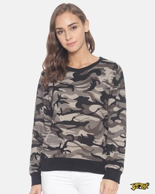 Shop Campus Sutra Women Stylish Round Neck Sweatshirt-Front