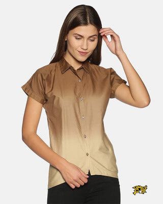 Shop Campus Sutra Women Stylish Solid Shirts-Front