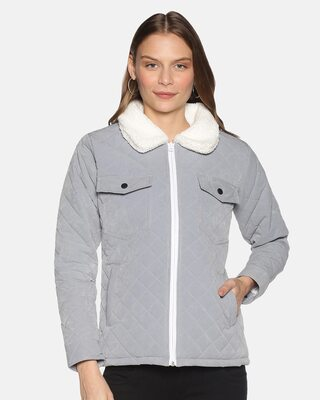 Shop Campus Sutra Women Stylish Solid Winter Casual Jackets-Front