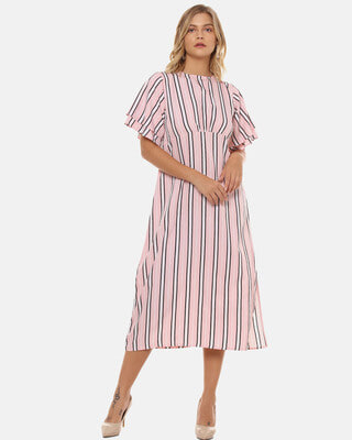 Shop Campus Sutra Women Stylish Striped Design Casual Dresses-Front