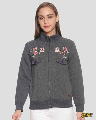 Shop Campus Sutra Women Stylish Sweatshirt-Front