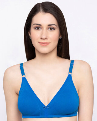 Shop Candyskin Women's Cotton Minimiser Plain / Solid Non-Wired Full Coverage Bra-Front