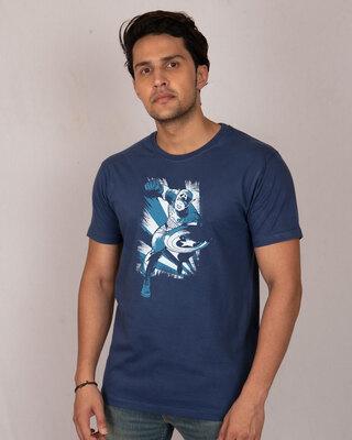 Shop Cap'n America Half Sleeve T-Shirt (AVL)-Front