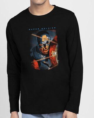 Shop Cap Shield Full Sleeve T-Shirt (AVL)-Front