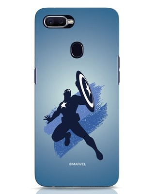 Shop Captain America Blues Oppo F9 Pro Mobile Cover (AVL)-Front