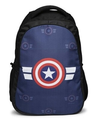 Shop Captain America Printed 23 Litre Backpack-Front