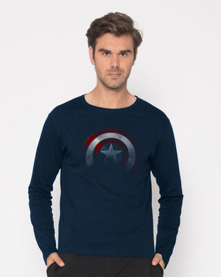 Buy Captain America Shadows Full Sleeve T-Shirt (AVL) Online India @ Bewakoof.com